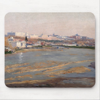 The Banks of the River Manzanares, 1912 (oil on ca Mouse Pad