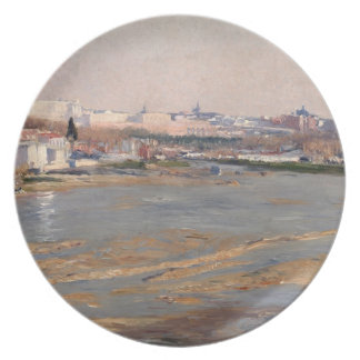 The Banks of the River Manzanares, 1912 (oil on ca Plate
