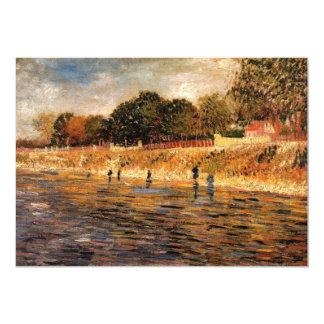 The Banks of the Seine by Vincent van Gogh Card