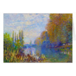The Banks of The Seine in Autumn Claude Monet Stationery Note Card
