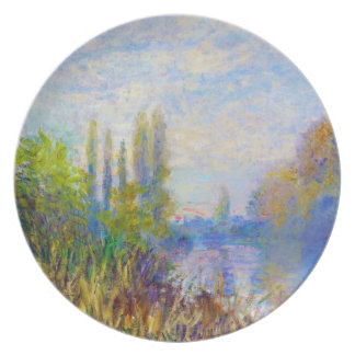 The Banks of The Seine in Autumn Claude Monet Dinner Plate