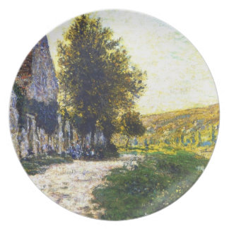 The Banks of the Seine, Lavacourt Claude Monet Party Plate