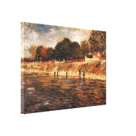The Banks of the Seine, Vincent van Gogh Stretched Canvas Print