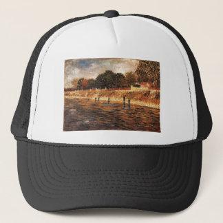 The Banks of the Seine, Vincent van Gogh Trucker Hat