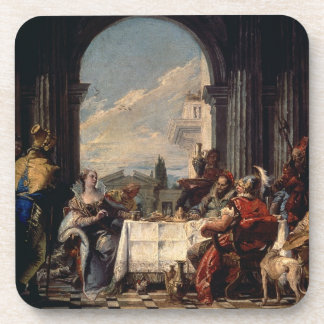 The Banquet of Anthony and Cleopatra, c.1744 (oil Beverage Coaster
