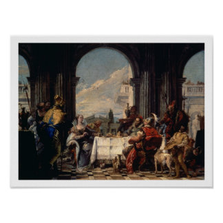 The Banquet of Anthony and Cleopatra, c.1744 (oil Poster