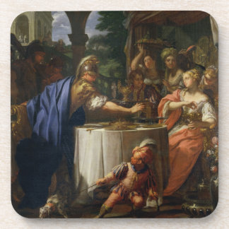The Banquet of Mark Anthony (83-30 BC) and Cleopat Drink Coaster