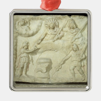 The Banquet of Mithras and the Sun Metal Ornament