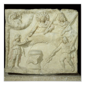 The Banquet of Mithras and the Sun Poster