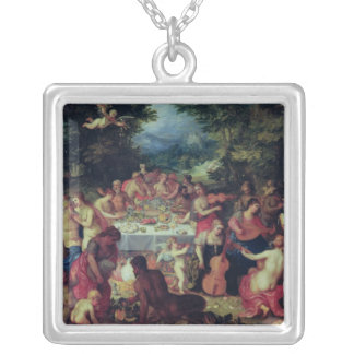The Banquet of the Gods Silver Plated Necklace