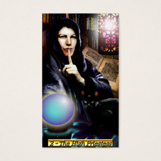 The Banx Tarot High Priestess Business Cards