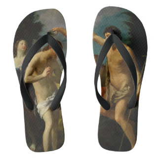 """The Baptism of Christ"" art sandals"