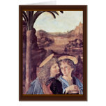 The Baptism Of Christ  By Andrea Del Verrocchio Greeting Cards