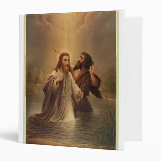 The Baptism of Christ by James Fuller Queen 1873 3 Ring Binder