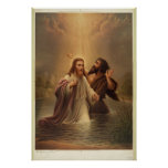 The Baptism of Christ by James Fuller Queen 1873 Poster