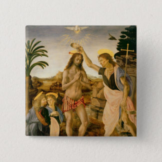 The Baptism of Christ by John the Baptist Button