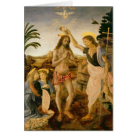 The Baptism of Christ by John the Baptist Greeting Cards