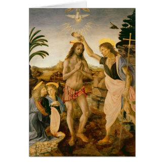 The Baptism of Christ by John the Baptist Card