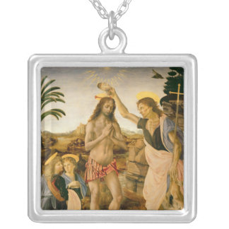 The Baptism of Christ by John the Baptist Silver Plated Necklace