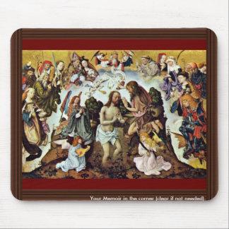 The Baptism Of Christ By Meister Des Bartholomäusa Mouse Pad