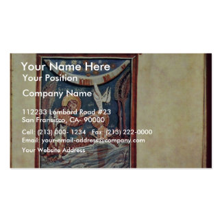 The Baptism Of Christ By Meister Des Hitda-Evangel Double-Sided Standard Business Cards (Pack Of 100)