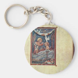 The Baptism Of Christ By Meister Des Hitda-Evangel Key Chains