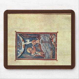 The Baptism Of Christ By Meister Des Hitda-Evangel Mouse Pad