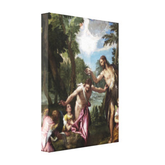 The Baptism of Christ by Paolo Veronese Canvas Print