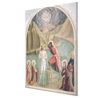 The Baptism of Christ, c.1438-45 (fresco) Canvas Print