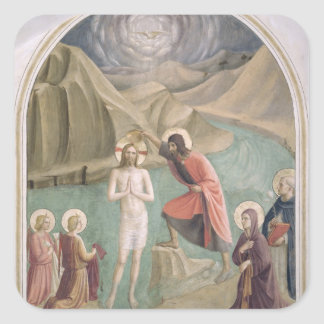 The Baptism of Christ, c.1438-45 (fresco) Square Sticker