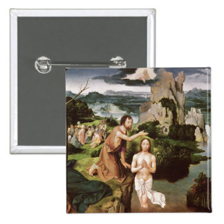 The Baptism of Christ c 1515 Pinback Button