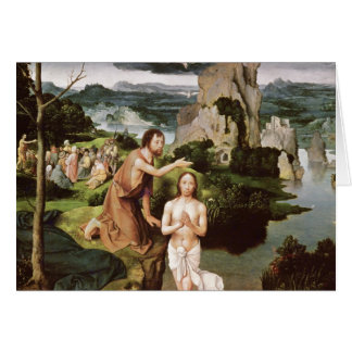 The Baptism of Christ, c.1515 Greeting Card