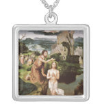 The Baptism of Christ, c.1515 Square Pendant Necklace