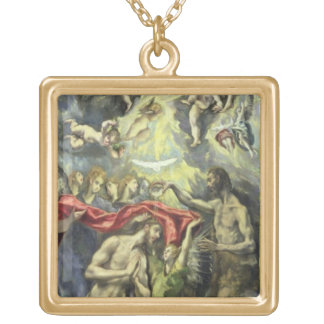 The Baptism of Christ, c.1597 (oil on canvas) Gold Plated Necklace