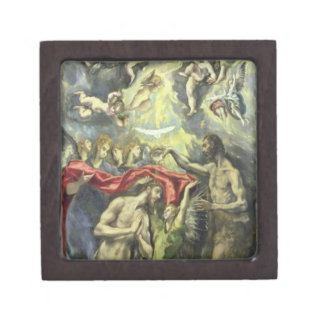 The Baptism of Christ, c.1597 (oil on canvas) Jewelry Box