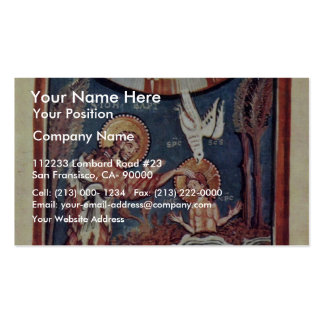 The Baptism Of Christ Detail By Meister Des Hitda- Double-Sided Standard Business Cards (Pack Of 100)