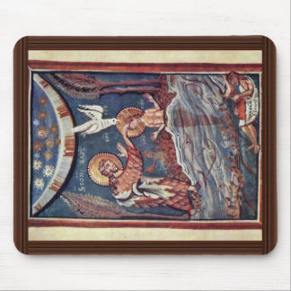 The Baptism Of Christ Detail By Meister Des Hitda- Mouse Pad