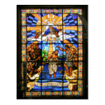 The Baptism of Christ - Stained Glass - Postcard