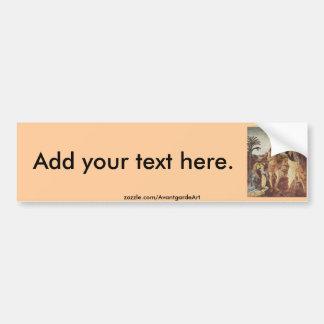 The Baptism of Christ (Verrocchio) Car Bumper Sticker