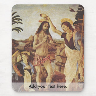The Baptism of Christ (Verrocchio) Mouse Pad