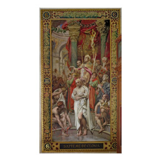 The Baptism of Clovis I Poster