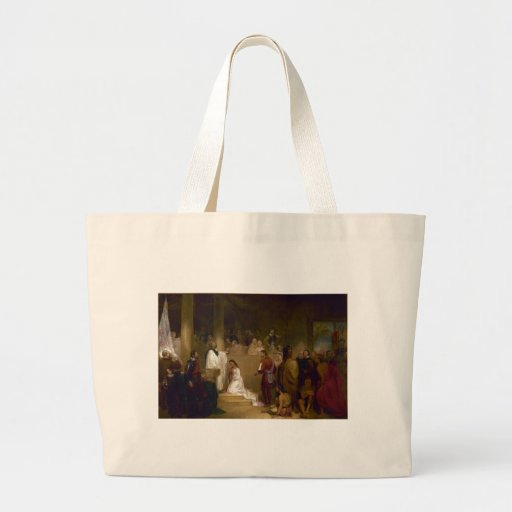 The Baptism of Pocahontas by John Gadsby Chapman Bag