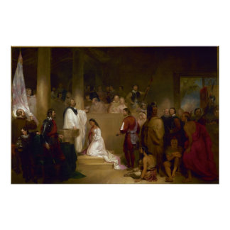 The Baptism of Pocahontas by John Gadsby Chapman Poster