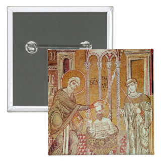 The Baptism of St. Paul By Ananias 2 Inch Square Button