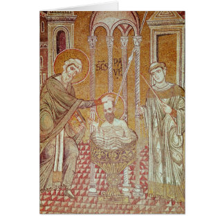 The Baptism of St. Paul By Ananias Greeting Card
