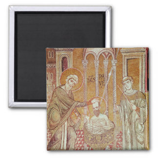 The Baptism of St. Paul By Ananias 2 Inch Square Magnet