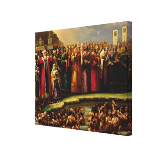 The Baptism of the Murom people Canvas Print