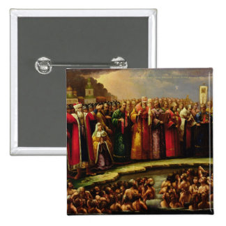 The Baptism of the Murom people Pinback Button