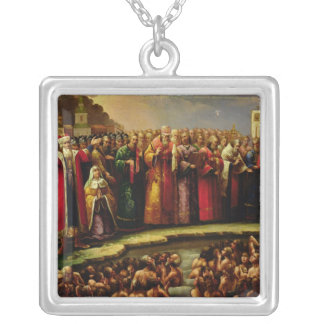The Baptism of the Murom people Silver Plated Necklace