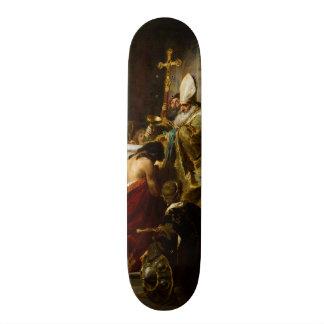 The Baptism of Vajk by Gyula Benczúr (1875) Skateboard